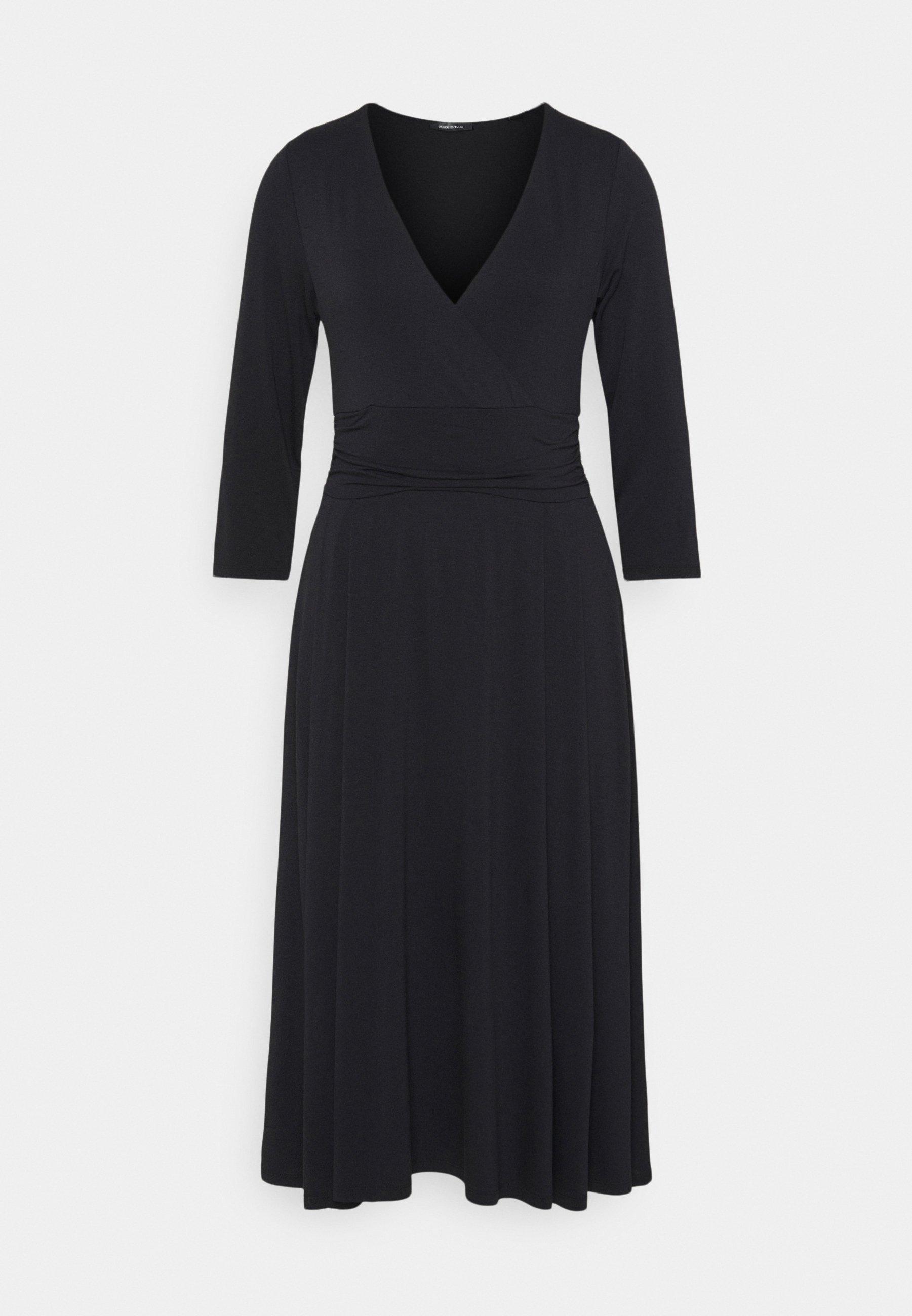 Damen DRESS LONG SLEEVE WRAPPED - Jerseykleid