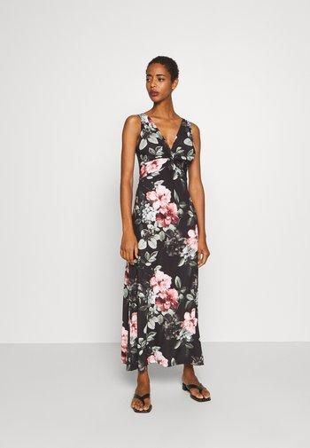 Maxi dress - black/pink/light green