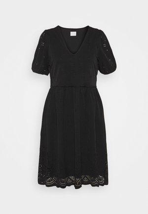 VITAMARA SHORT BRODERI DRESS - Vapaa-ajan mekko - black