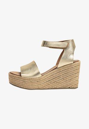 Sandales à talons hauts - mntrl gold ngl