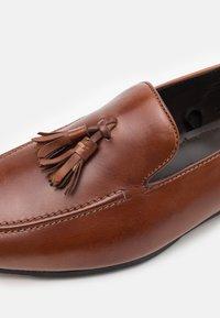 Zign - LEATHER - Smart slip-ons - brown - 5