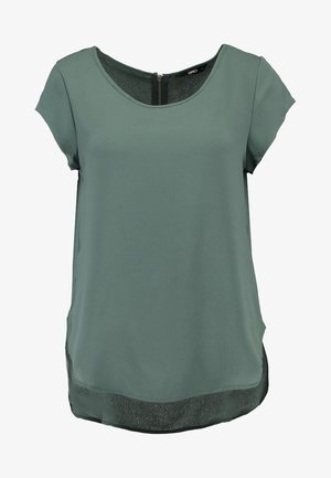 ONLVIC S/S SOLID NOOS WVN - Blouse - balsam green
