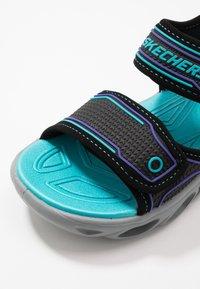 Skechers - HYPNO-SPLASH - Outdoorsandalen - black/turquoise/purple - 5