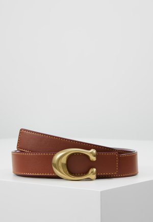 SCULPTED REVERSIBLE BELT - Pasek - saddle red