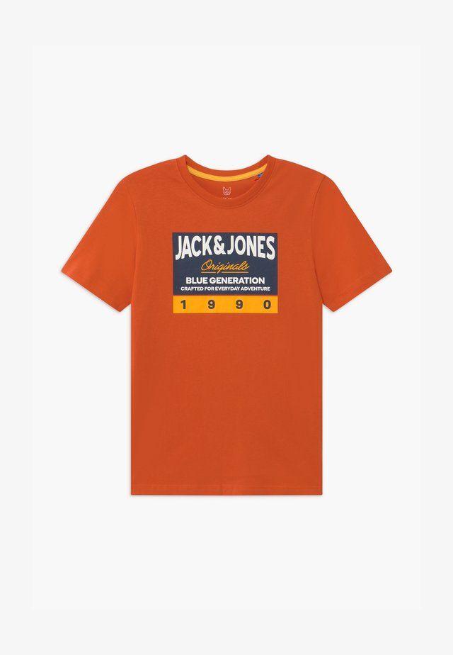 JORTONNI TEE CREW NECK - T-shirt imprimé - burnt ochre