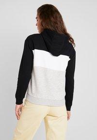 Fila - LORI HOODIE - Bluza z kapturem - black/ight grey melange/bright white - 2