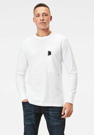 UTILITY POCKET LOGO - Long sleeved top - white