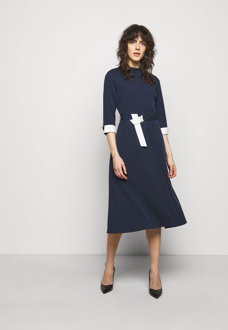 HUGO - DARTINA - Denní šaty - open blue