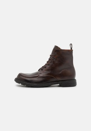 DIVISION - Lace-up ankle boots - bruciato