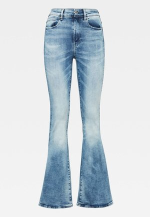 3301 HIGH FLARE - Bootcut jeans - sun faded azurite