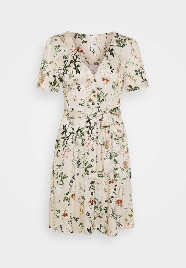 OBJALBA SHORT DRESS - Day dress - sandshell/multi colour