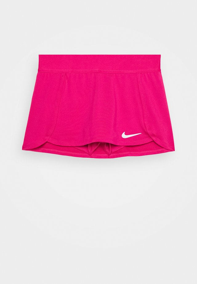 SKIRT - Gonna sportivo - vivid pink/white