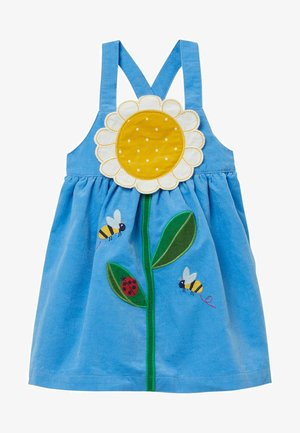 MIT BLUMEN-APPLIKATION - Day dress - surfbrett-blau, gänseblümchen