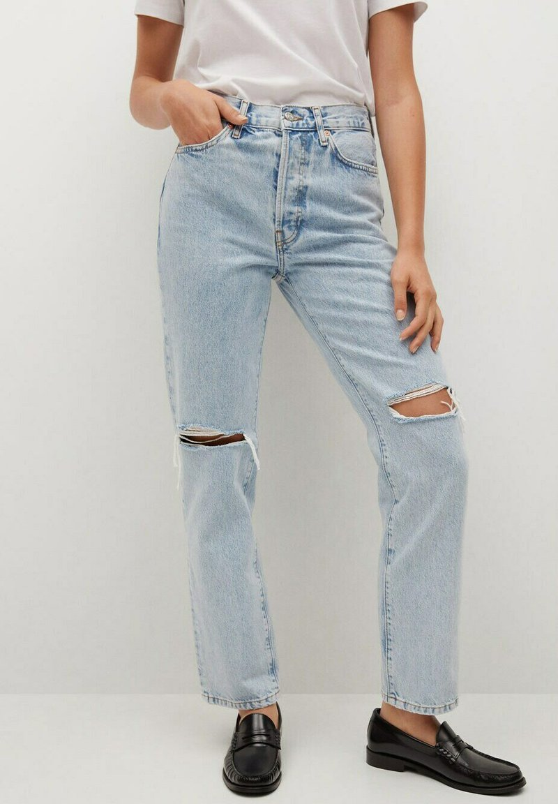 Mango - Relaxed fit jeans - light blue