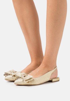 LUNA - Slingback ballet pumps - gold