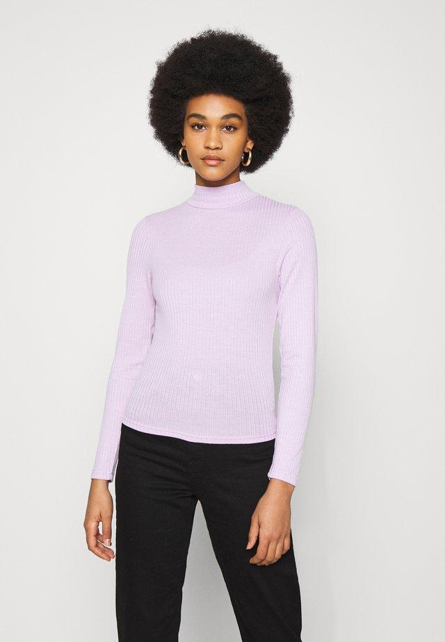 MILA MOCK NECK LONG SLEEVE - Pitkähihainen paita - forsty lilac marle