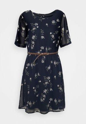 VMFALLIE BELT DRESS - Day dress - navy blazer/newhallie
