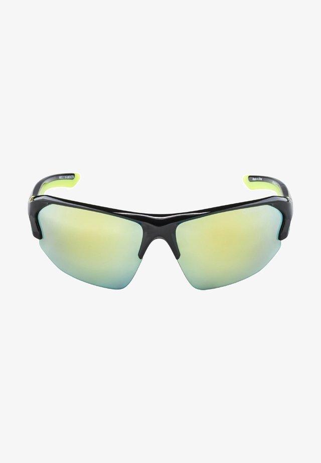 MANDANT LYRON - Sports glasses - black-neon yellow