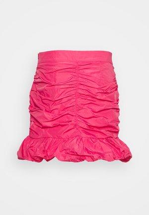 TAFFETA SKIRT - Spódnica trapezowa - hot pink