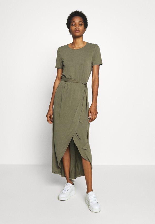 OBJANNIE NADIA DRESS - Maxikleid - burnt olive