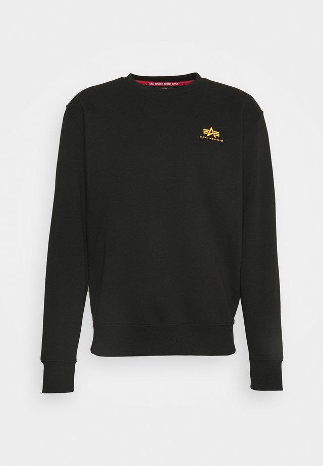 BASIC SMALL LOGO  - Sweatshirt - black/neon orange