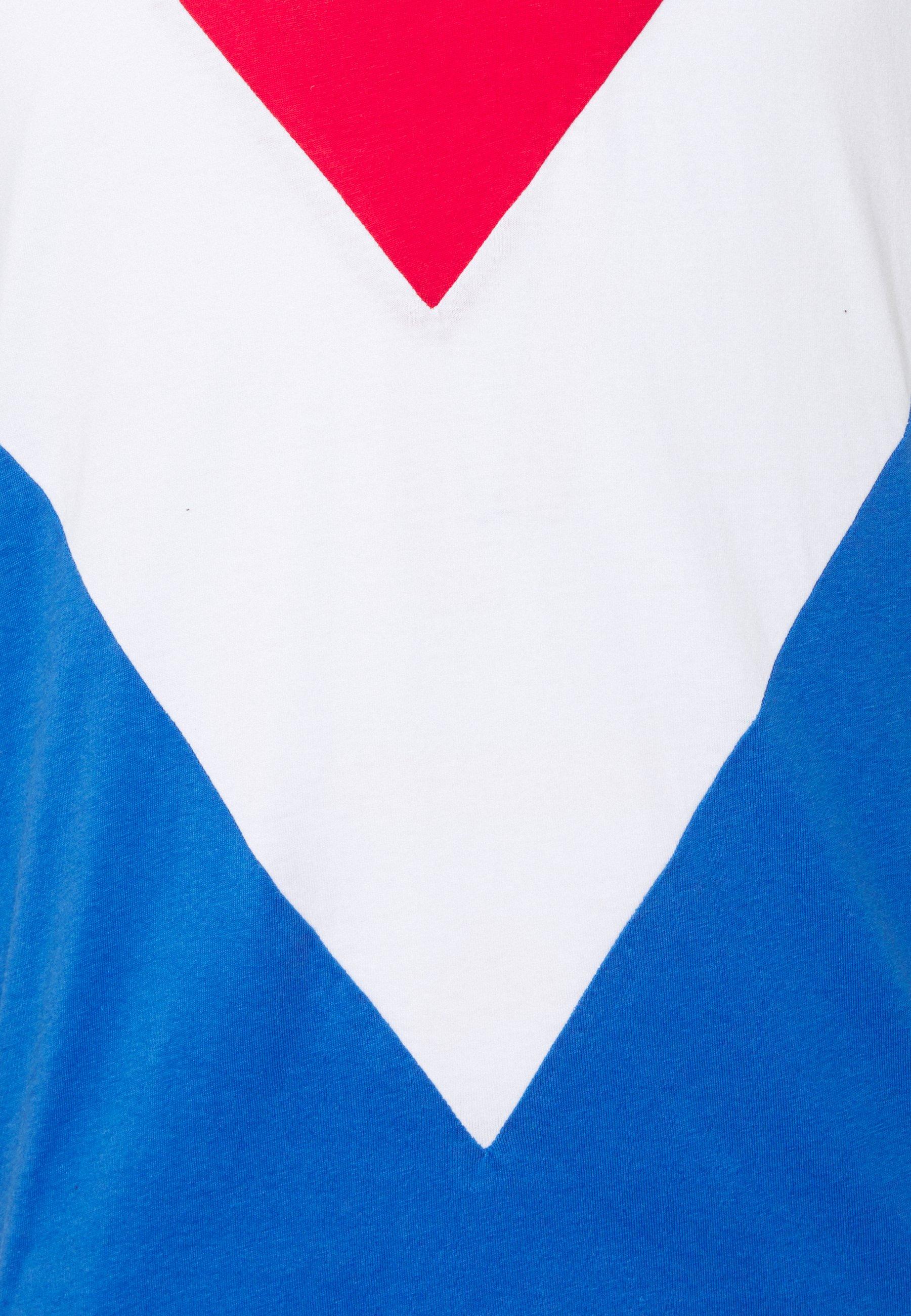Brave Soul POINTC - Print T-shirt - red/optic white/royal KAMkZ