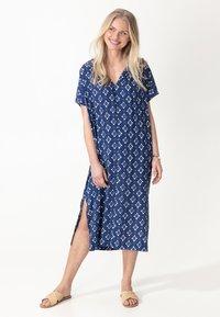 Indiska - KAFTAN VISHA - Day dress - blue - 0