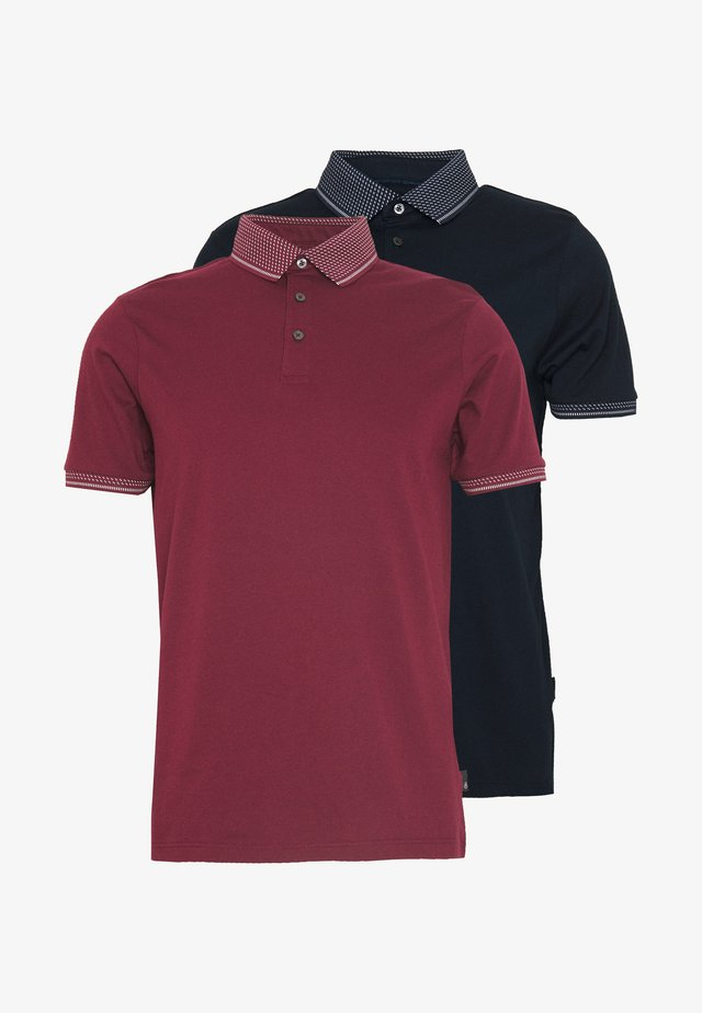 SHORT SLEEVE 2 PACK - Polo shirt - navy