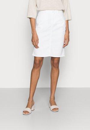 DENIM SKIRT - Denimová sukně - white