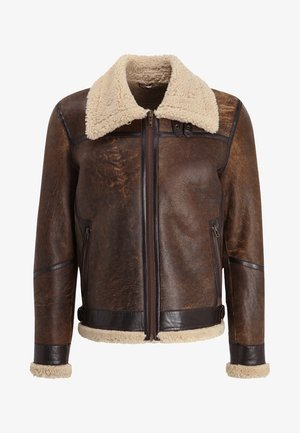 LAMMY - Veste en cuir - brown