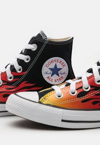 Converse - CHUCK TAYLOR ALL STAR UNISEX - Sneakers high - black/enamel red/fresh yellow - 5