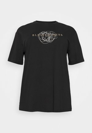 VMGALINA LONG BOX  - Print T-shirt - black