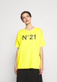 N°21 - Print T-shirt - mimosa - 3