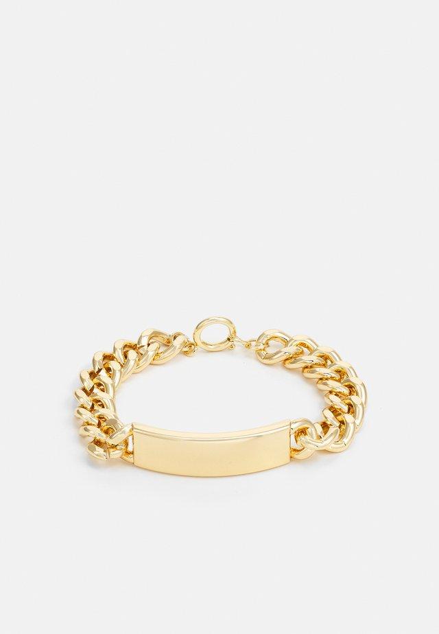 PLATE BRACELET UNISEX - Armbånd - gold-coloured