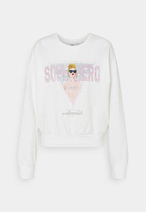 ONLLUCINDA LIFE SHORT GIRLS BOX - Sweatshirt - cloud dancer/superhero