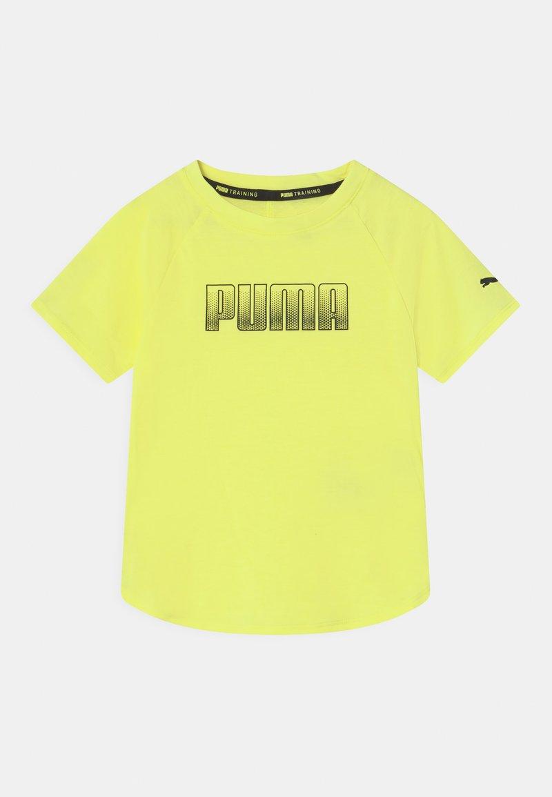 Puma - RUNTRAIN UNISEX - Print T-shirt - yellow
