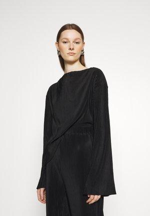 JULIEN MICRO PLEAT - Blouse - black plisse