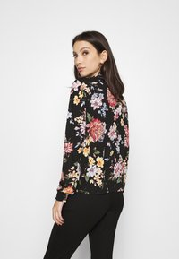ONLY - ONLLENA FLOWER SMOCK - Long sleeved top - black - 2
