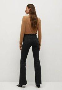 Mango - FLARE - Flared Jeans - black denim - 2