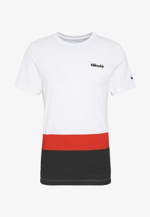 M NSW AIR SS TEE BLOCKED - T-shirt med print - white/university red