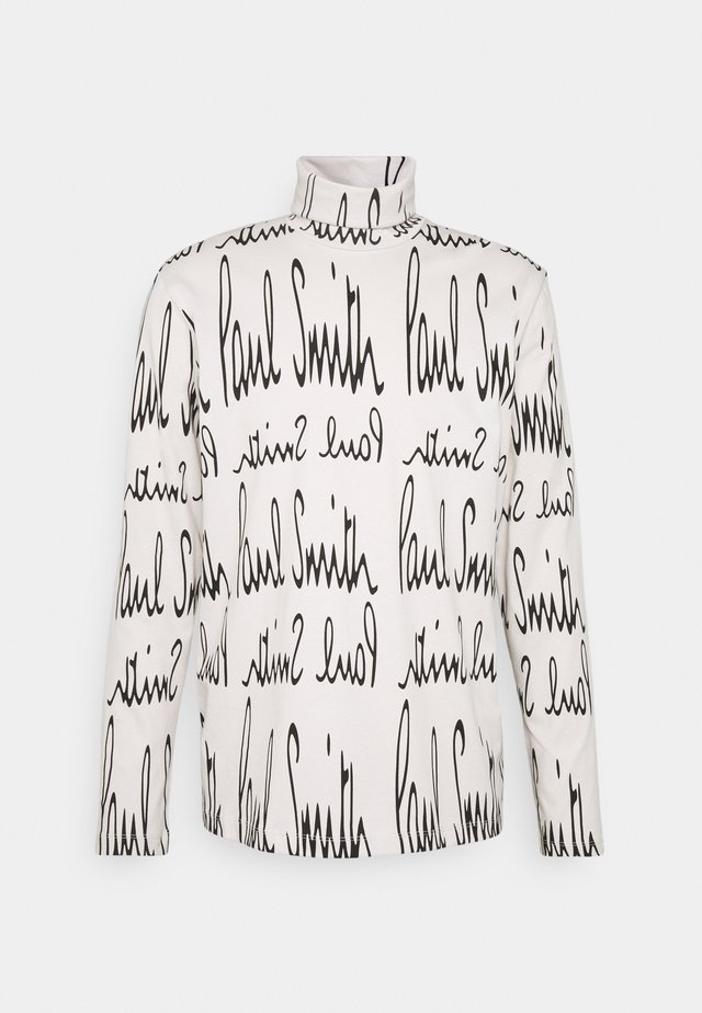 GENTS ROLL NECK ARCHIVE LOGO PRINT - Long sleeved top - white/black