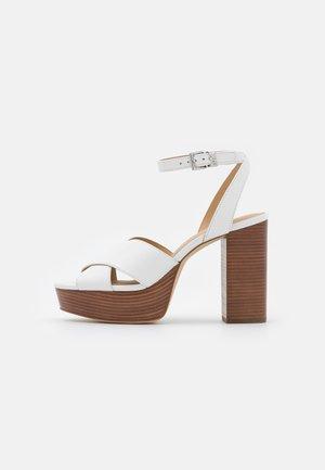 ODETTE PLATFORM - Sandaler med høye hæler - optic white