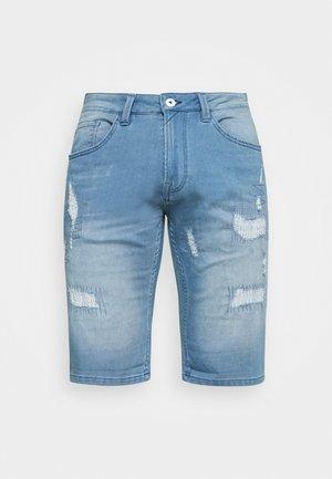 COMMERCIAL KEN HOLES - Denim shorts - blue wash