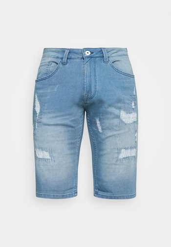 COMMERCIAL KEN HOLES - Jeansshort - blue wash