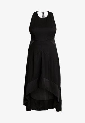 HALTER NECK MIDI DRESS - Kjole - black