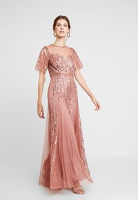Lace & Beads - MEGHAN MAXI - Společenské šaty - dusty pink - 2