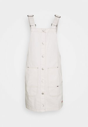 SHORT DUNGAREE SNAP DRESS - Robe en jean - work white rigid