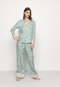 Marks & Spencer London - FLORAL  - Pyjamas - aqua mix - 1
