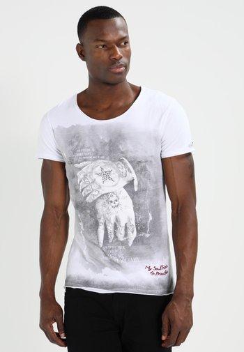 ALIVE - T-shirt med print - white