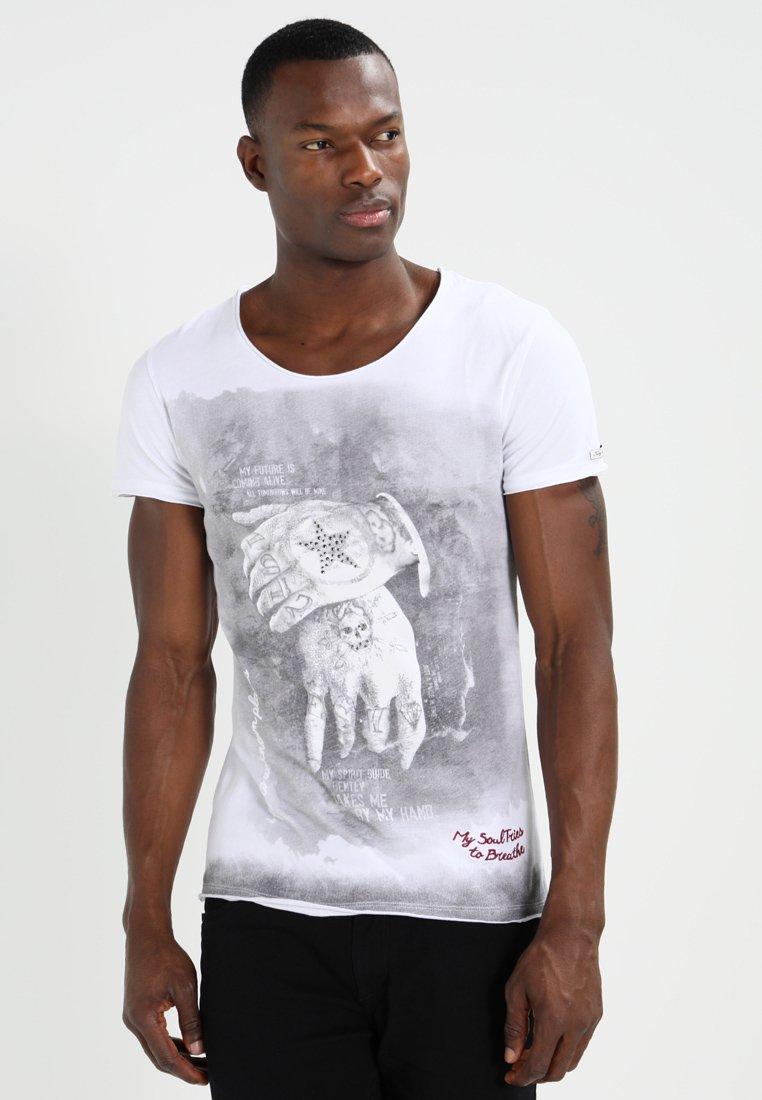 Key Largo - ALIVE - T-shirt con stampa - white